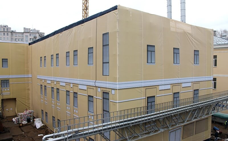 Фальш фасад на здание